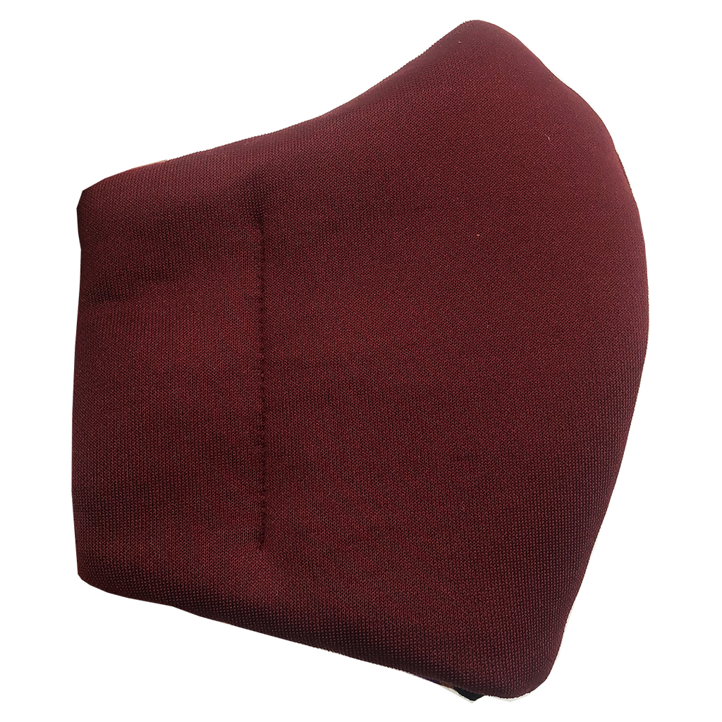 Face Mask V2 - Maroon (assorted cotton fabric for inner mouth piece)