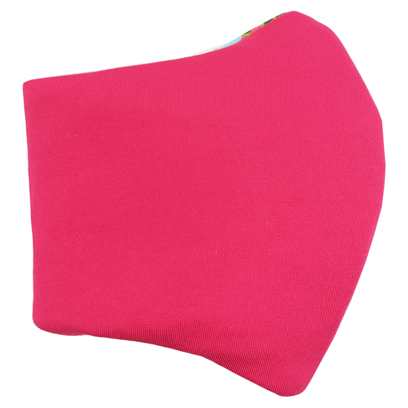 Face Mask V2 - Pink (assorted cotton fabric for inner mouth piece)