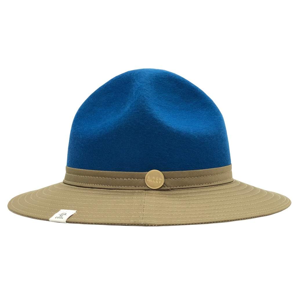 Simon & Mary Be Cool Mountie 50-50 Hat Beige & Blue