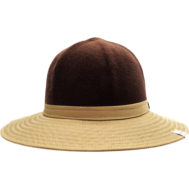 Simon & Mary Be Cool Pith 50-50 Hat Beige & Brown