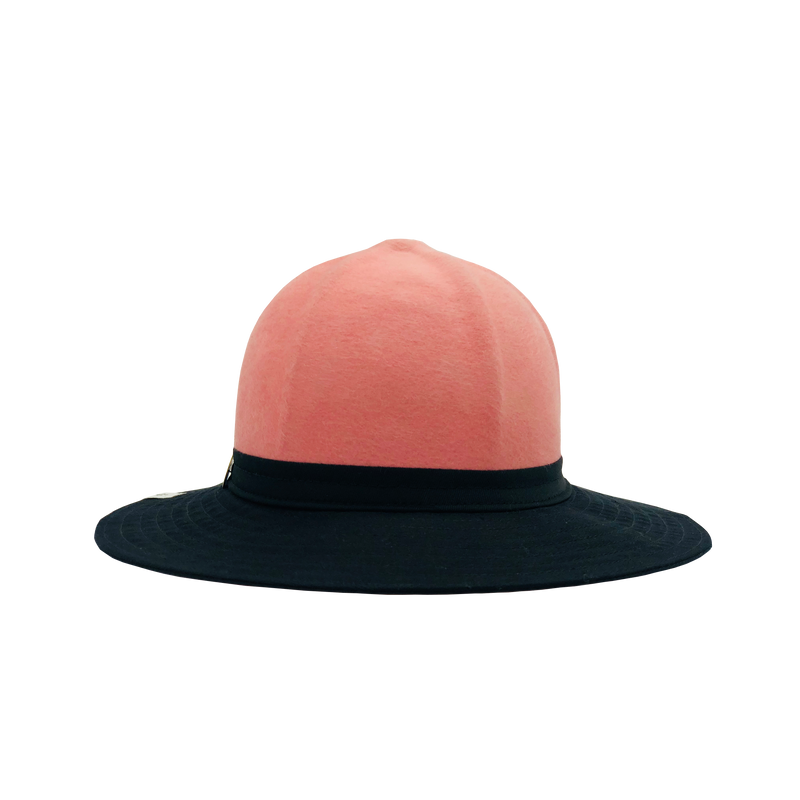 Simon & Mary Be Cool Pith 50-50 Hat Black & Pink