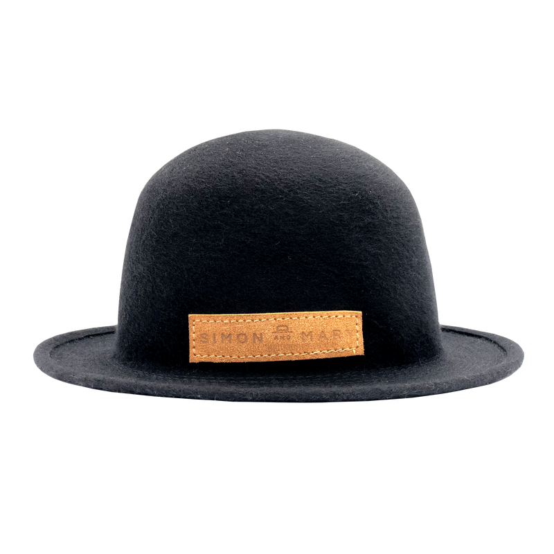 Simon & Mary Bowler Raw Hat Black