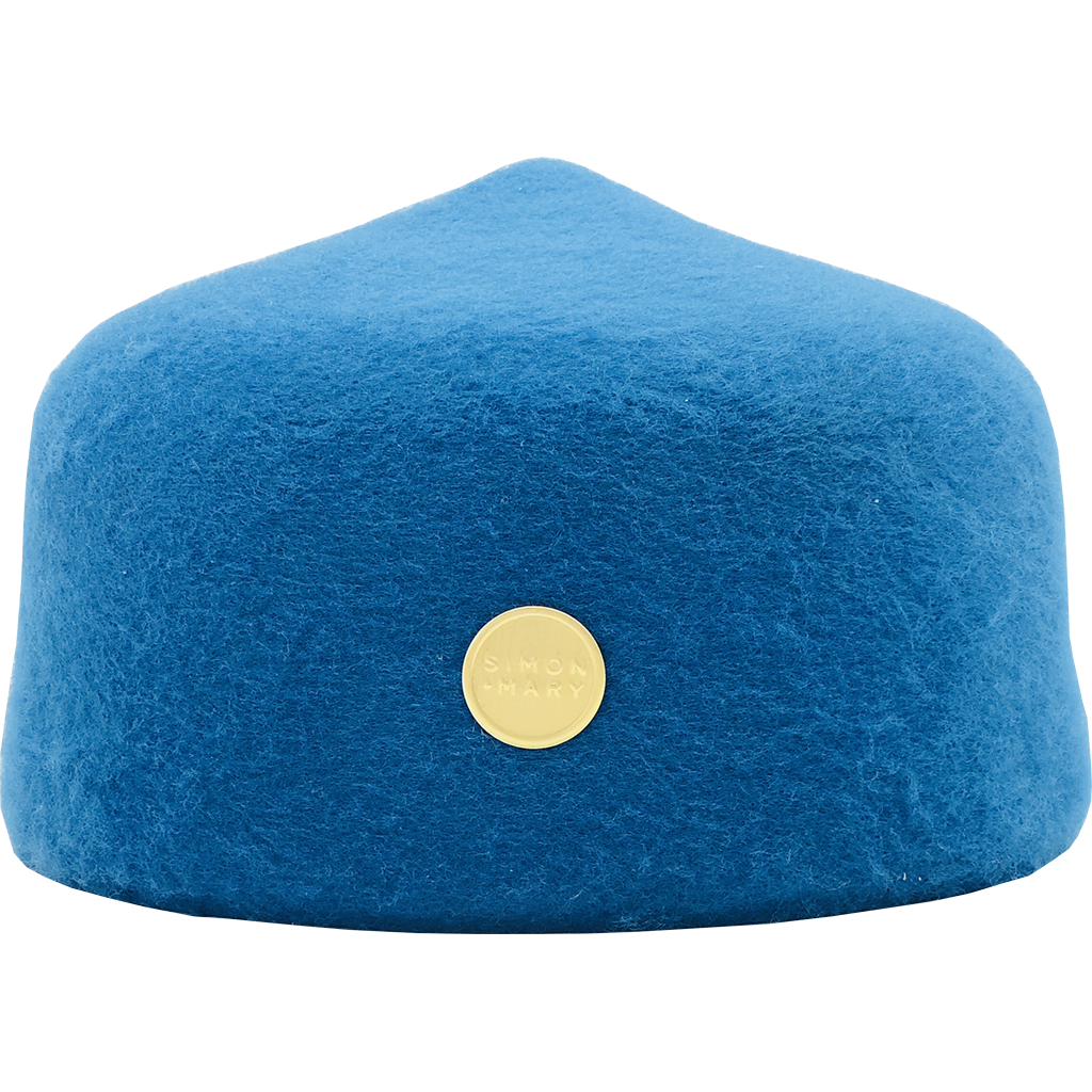 Simon & Mary Fez Hat Blue