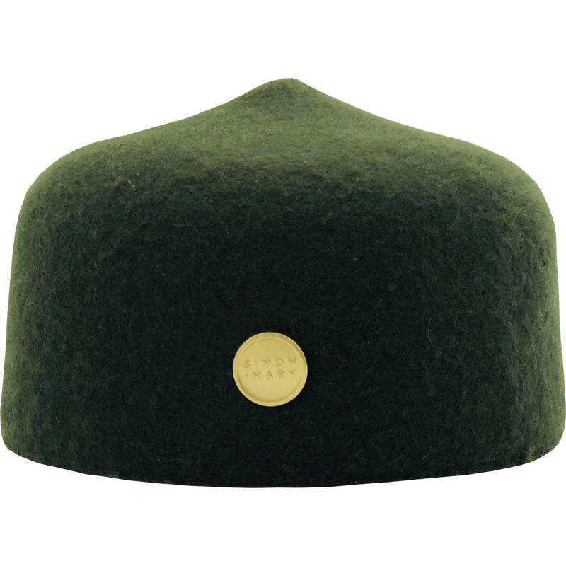 Simon & Mary Military Fez Hat White (Online Exclusive)