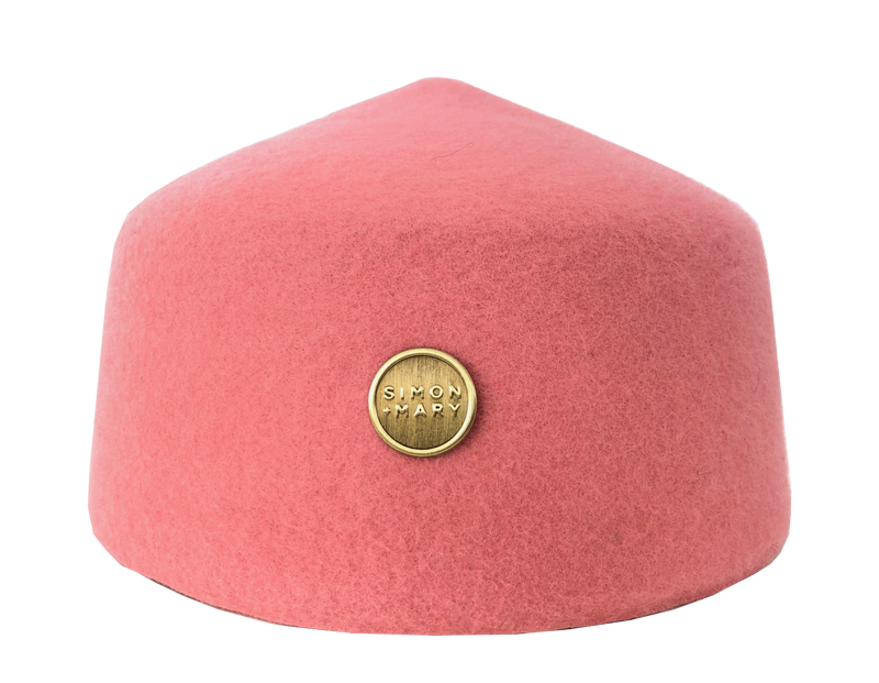 Simon & Mary Fez Hat Pink