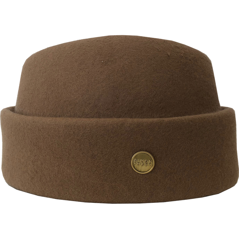 Simon & Mary Military Fez Hat Camel