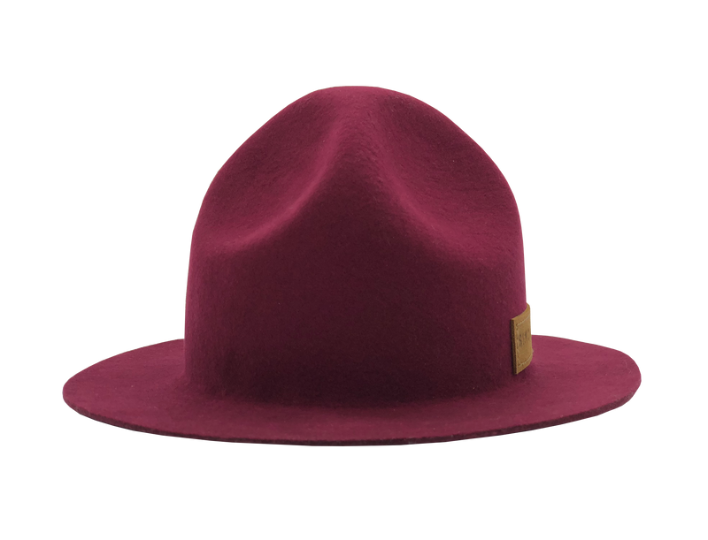 Simon & Mary Mountie Raw Hat Burgundy