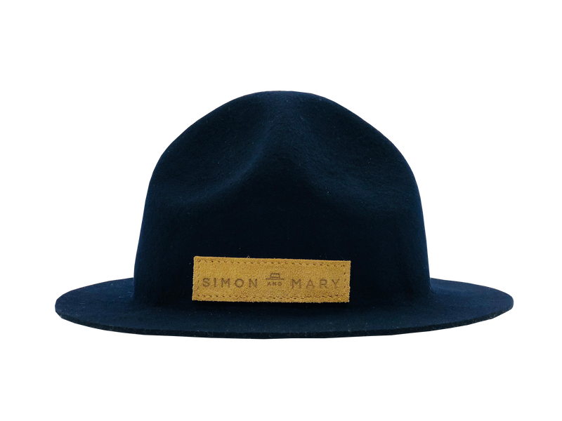Simon & Mary Mountie Raw Hat Navy