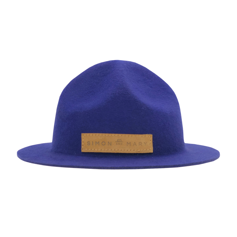 Simon & Mary Mountie Raw Hat Purple