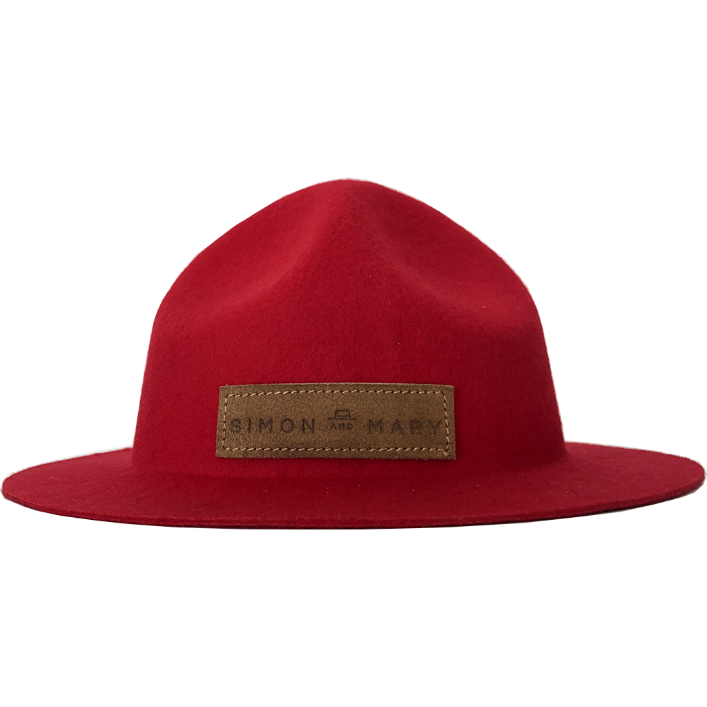 Simon & Mary Mountie Raw Hat Red