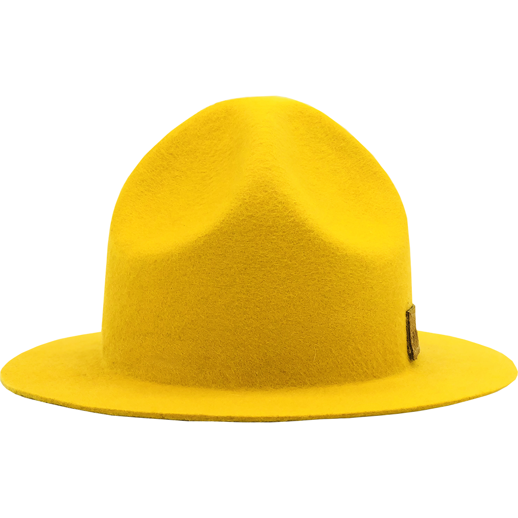 Simon & Mary Mountie Raw Hat Yellow