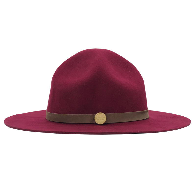 Simon & Mary Mountie Traditional Hat Burgundy