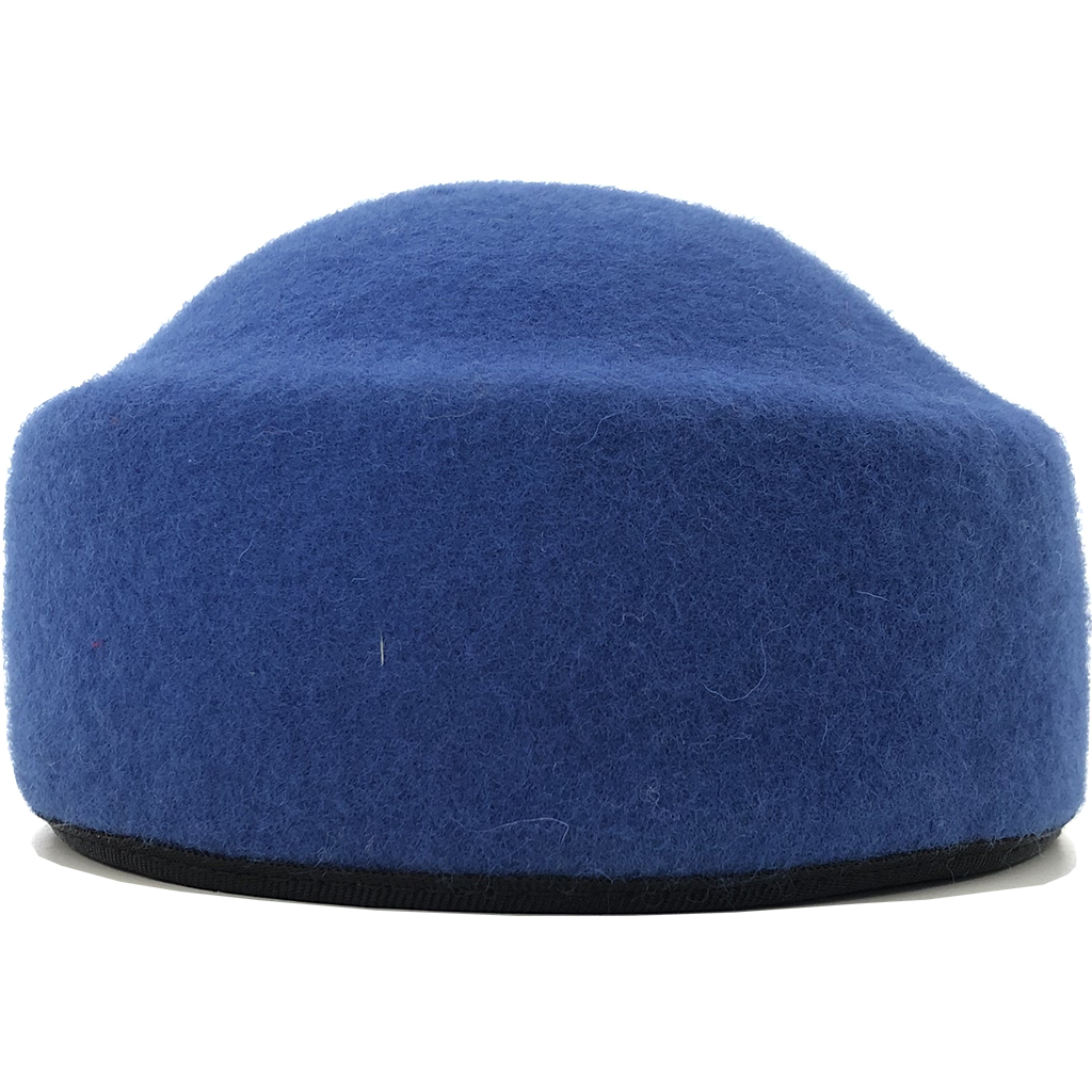 Simon & Mary Pillbox Fez Hat Blue