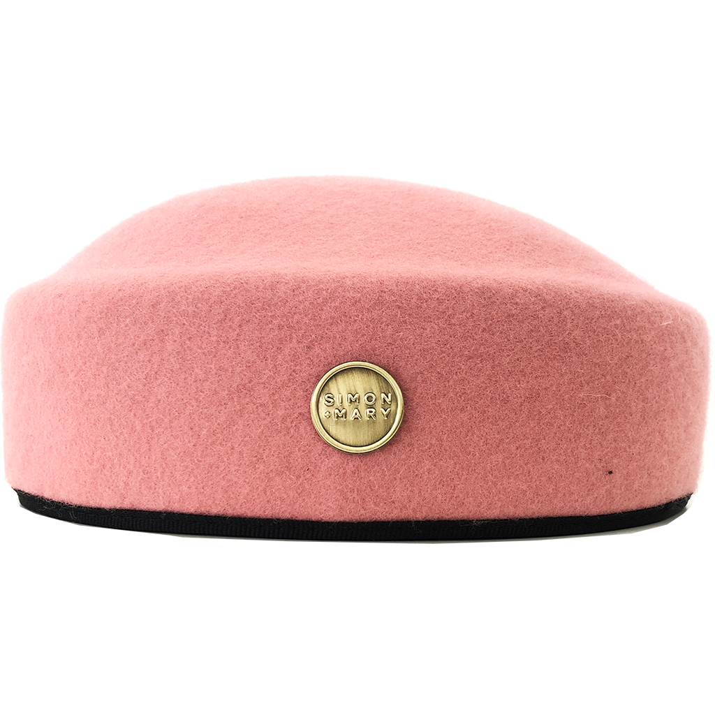 Simon & Mary Pillbox Fez Hat Pink