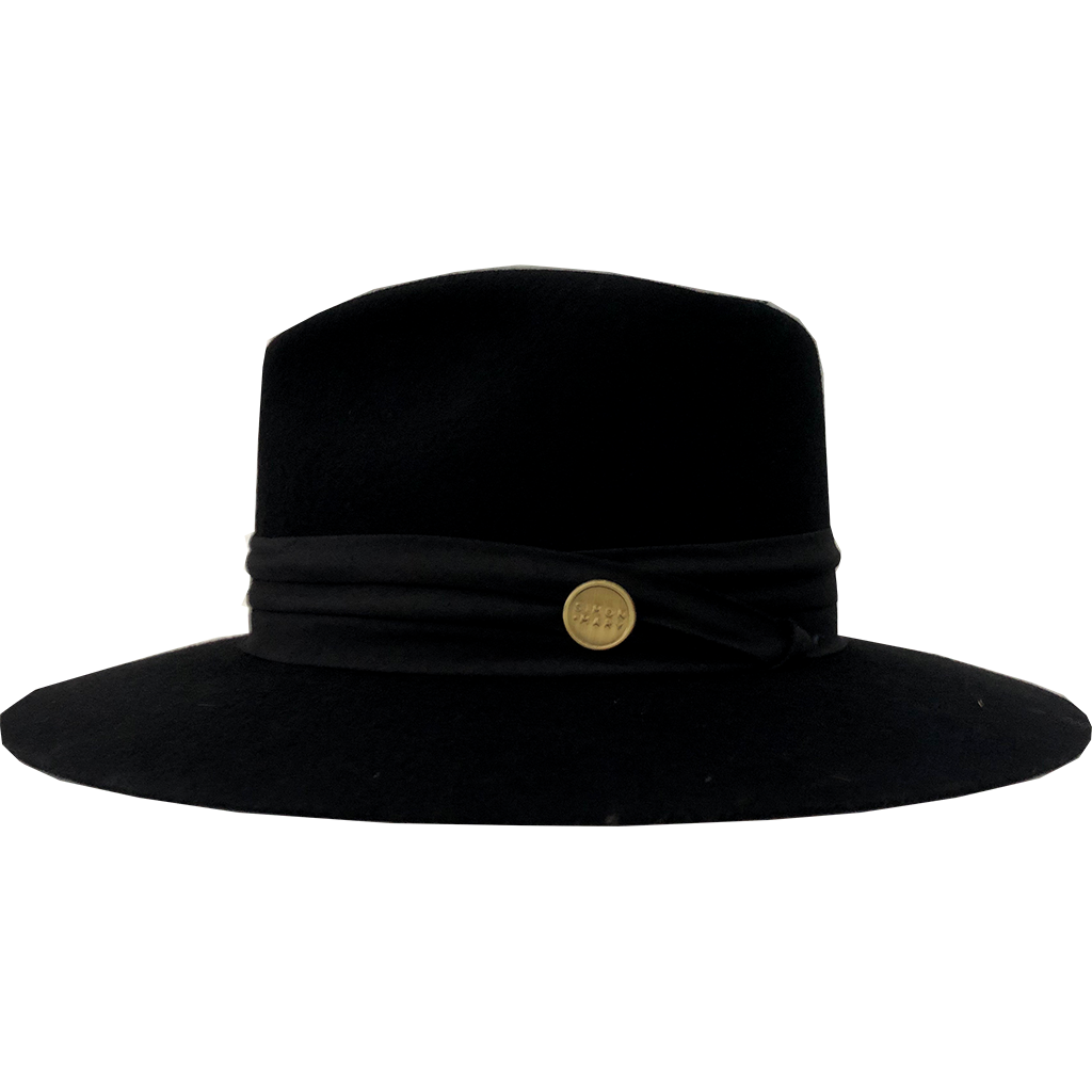 Simon & Mary Audrey Hat Black