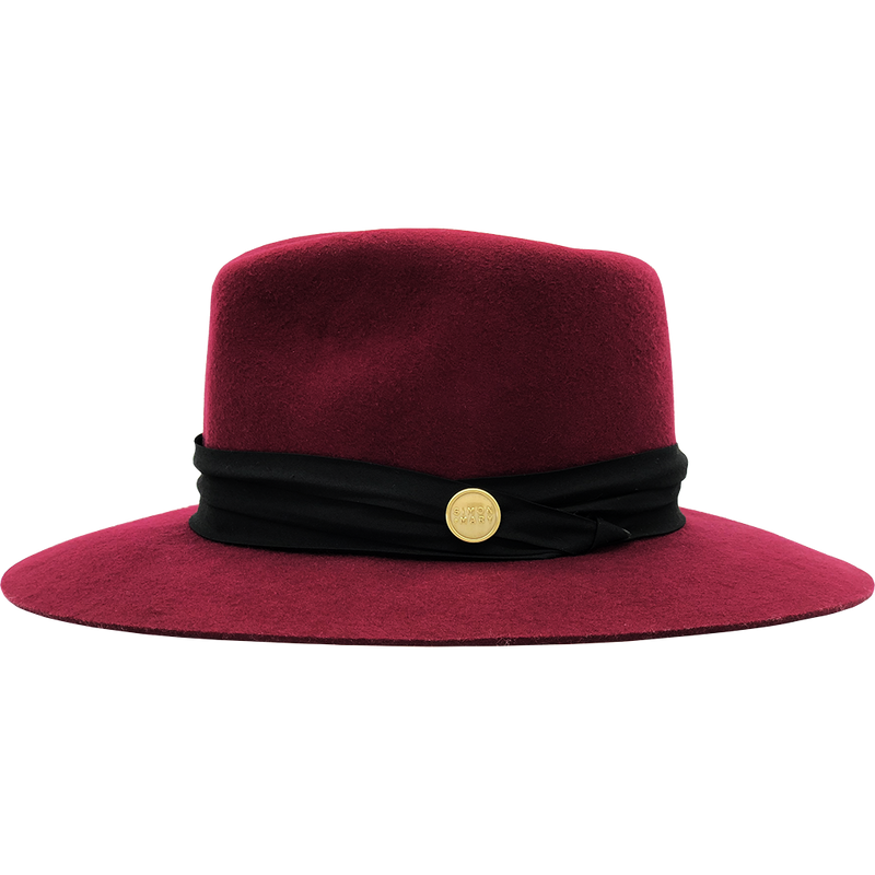 Simon & Mary Audrey Hat Burgundy