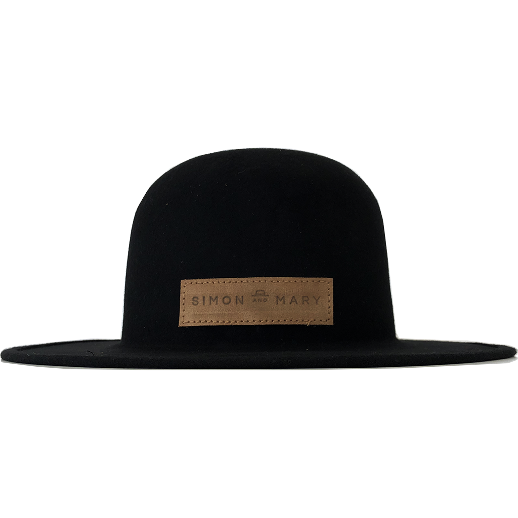 Simon & Mary Roberto Raw Hat Black