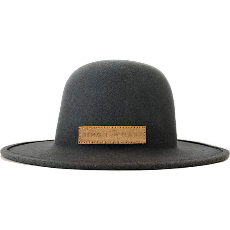 Simon & Mary Roberto Raw Hat Grey