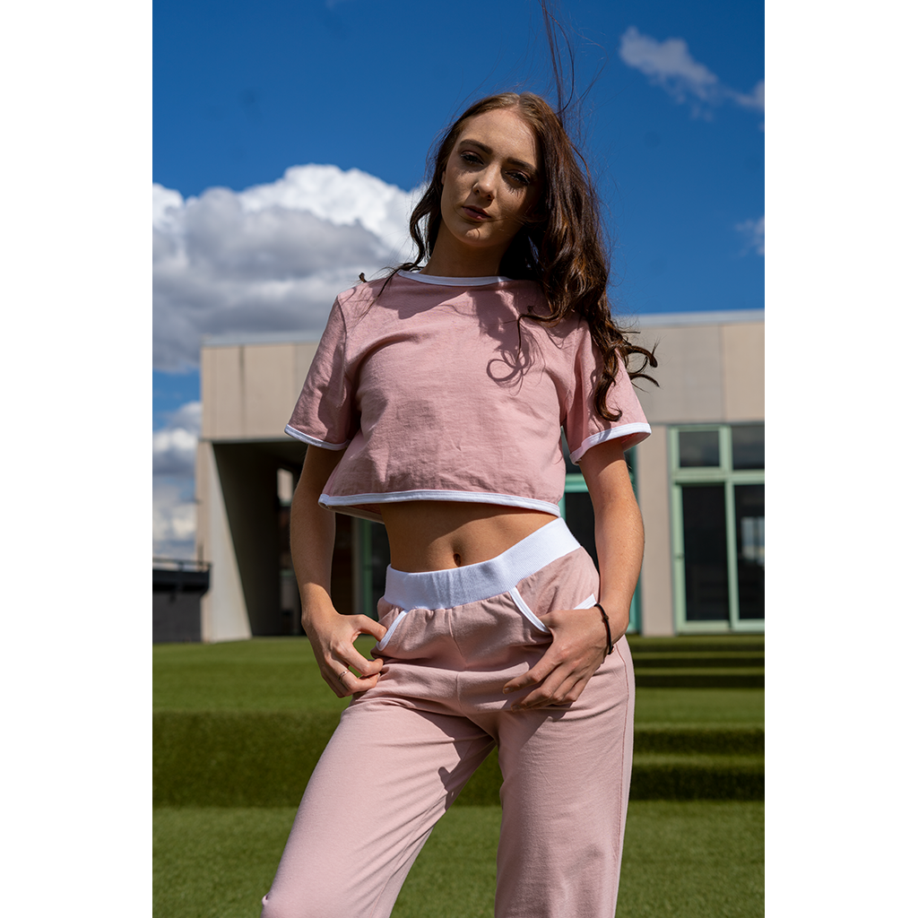 Cropped T-Shirt Dusty Rose
