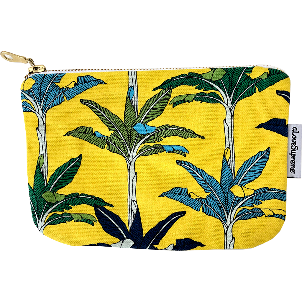 aLoveSupreme Pouch Metal Zip - Palms Yellow