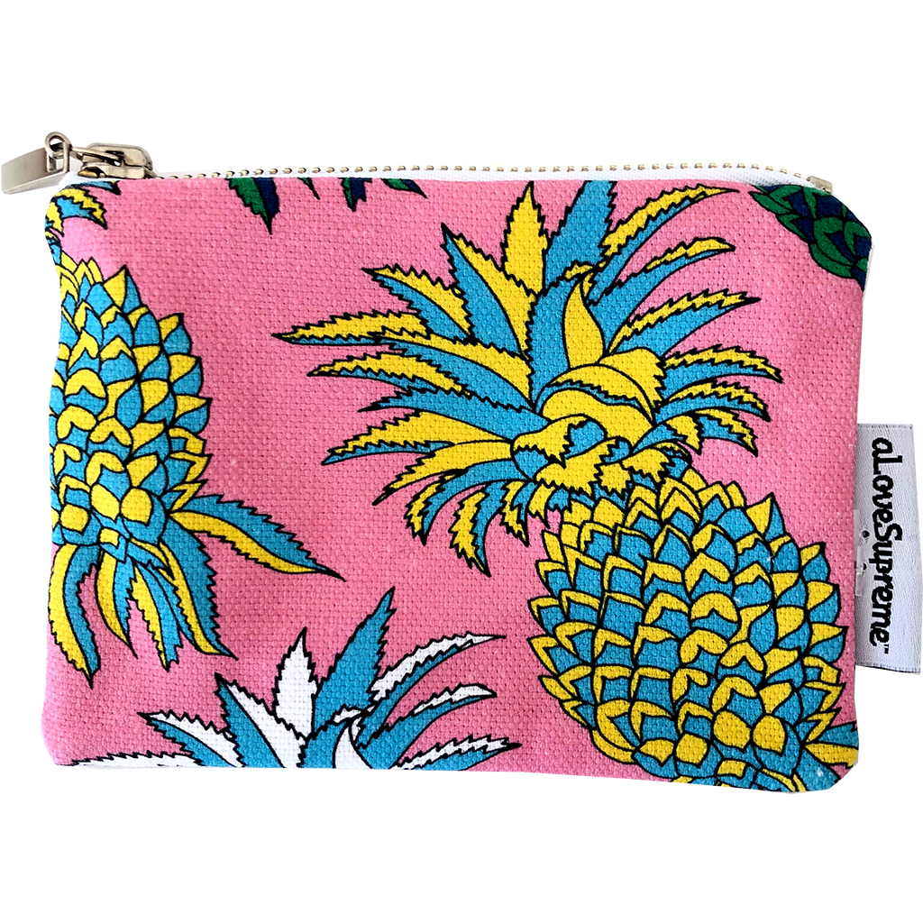 aLoveSupreme Coin Purse Palms Pineapples