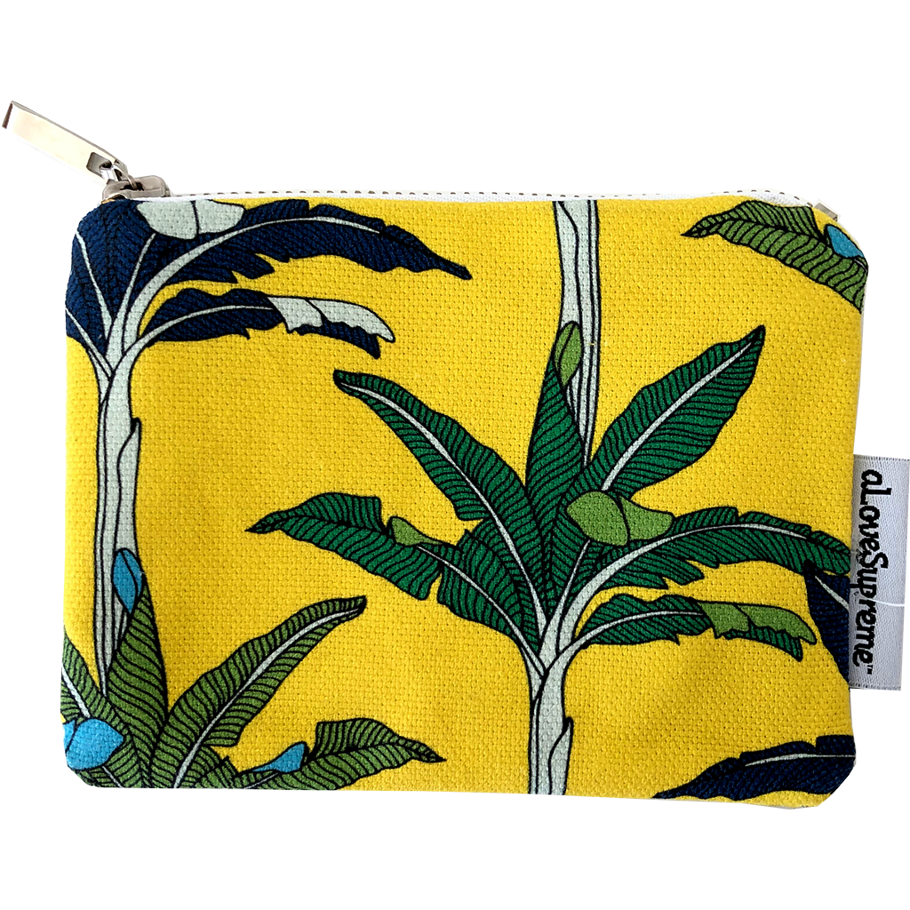 aLoveSupreme Coin Purse - Palms Yellow