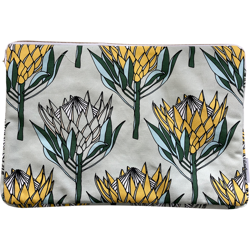 aLoveSupreme Laptop Sleeve 15inch - King Protea Yellow on Mint