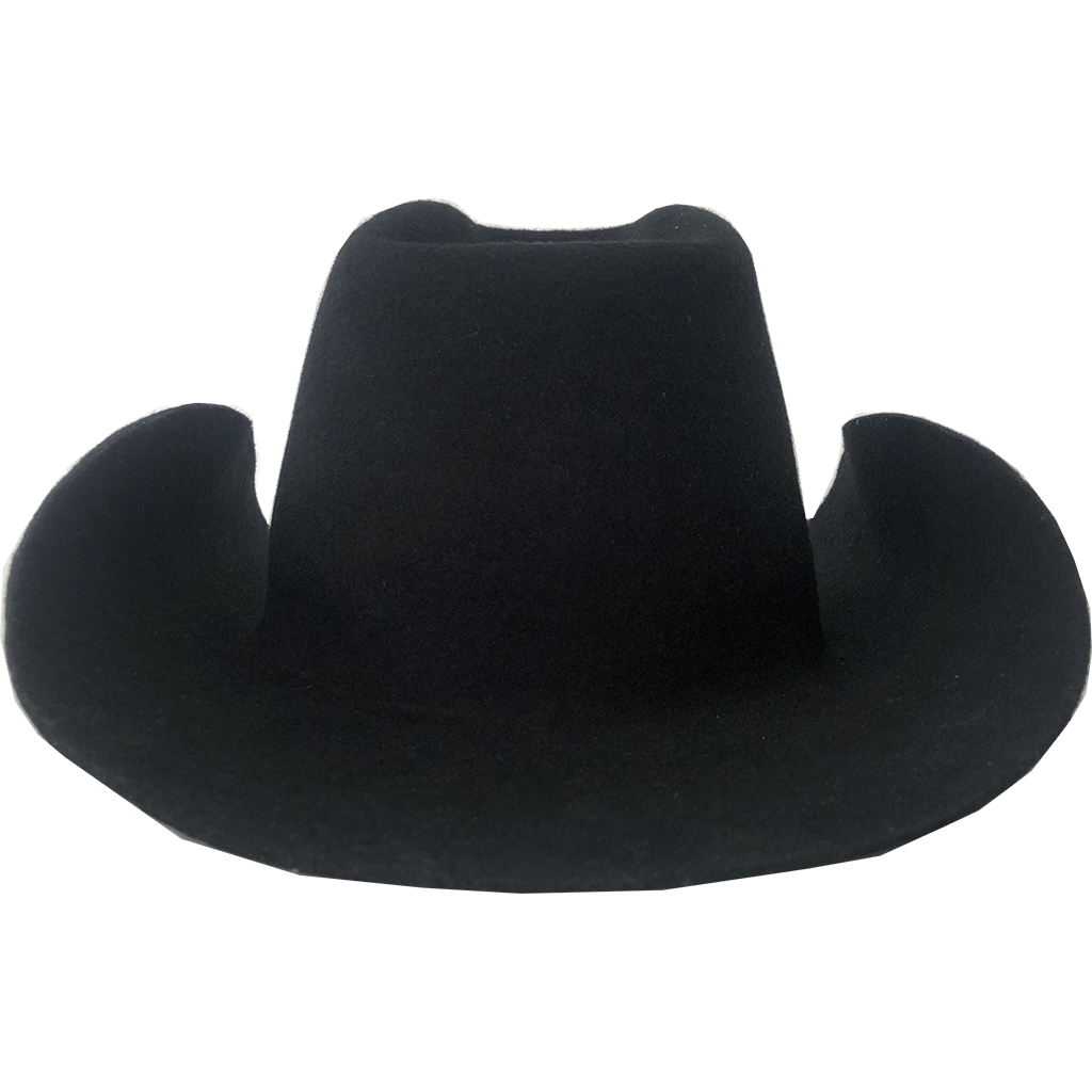 Simon & Mary Western hat Raw Black