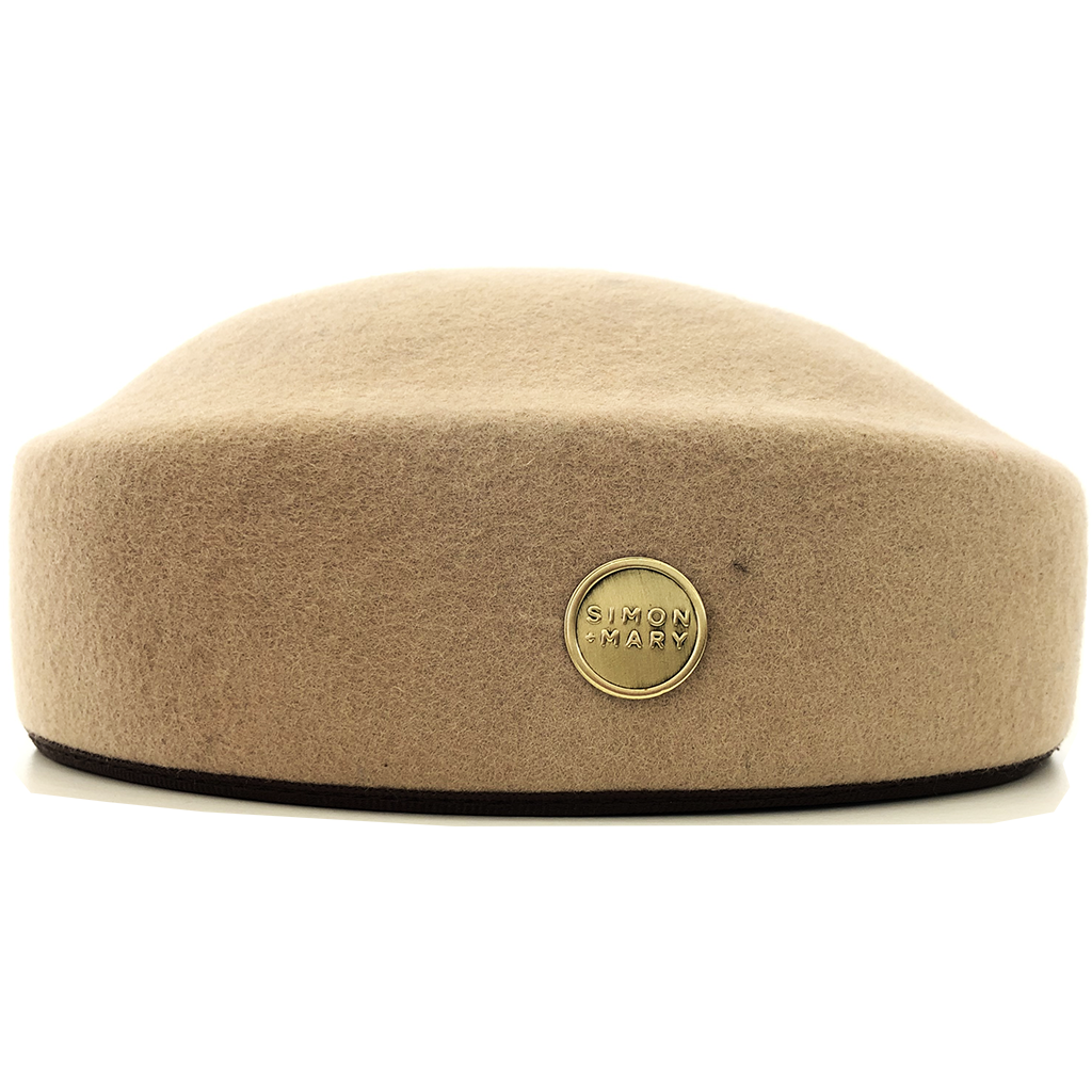 Simon & Mary Pillbox Fez Hat Camel
