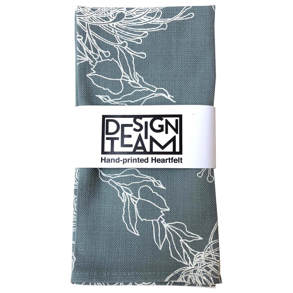 Peppertree Napkin Set of 2 - Garden Bloom Parchment on Sky