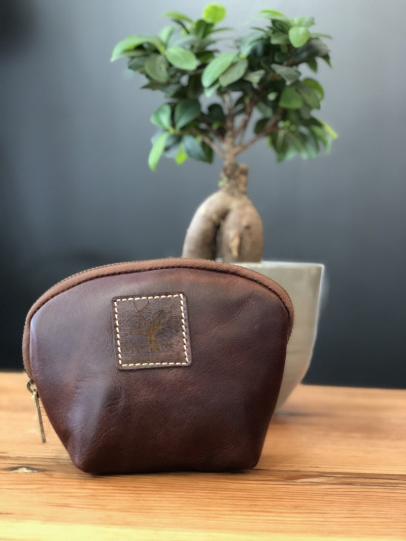 Peppertree Dark Leather Purse