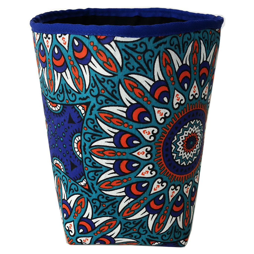 Deer Design Fabric Bucket Small - Orange Dazil