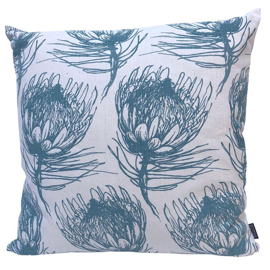 Peppertree Scatter Cushions 60x60 - King Protea Sage on Parchment
