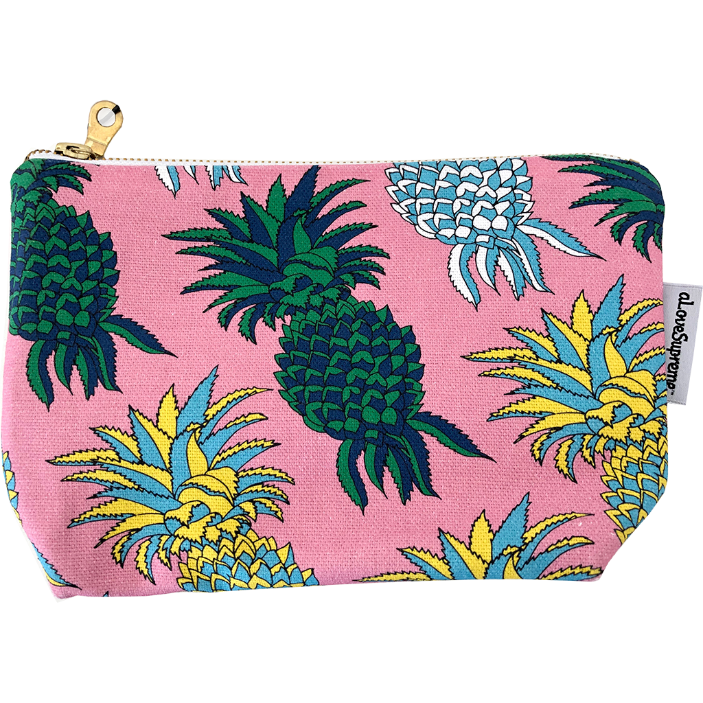 aLoveSupreme Makeup Pouch - Pineapples
