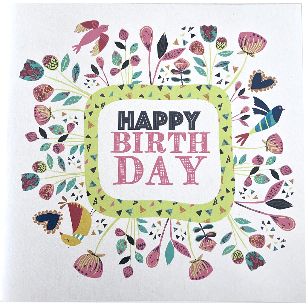 Nici Brockwell Card - Happy Birthday