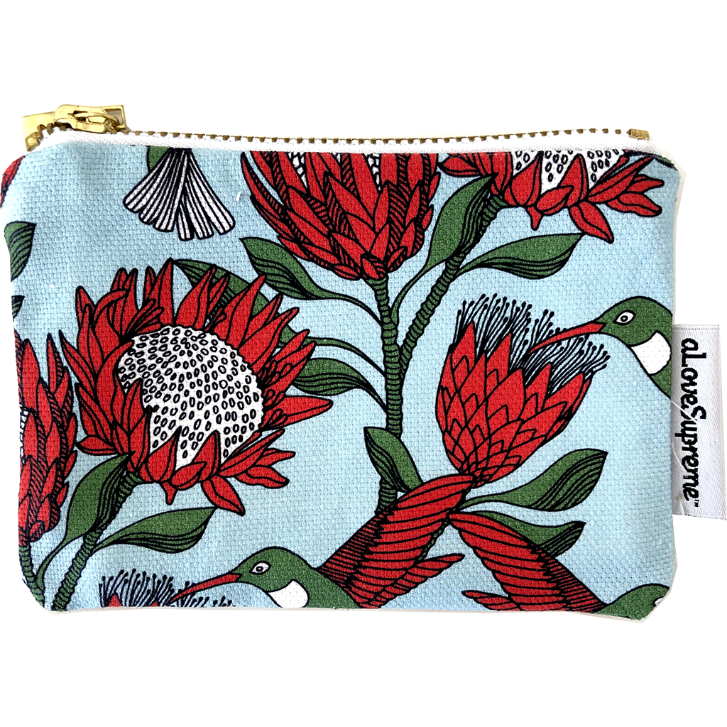 aLoveSupreme Coin Purse - Protea Blue