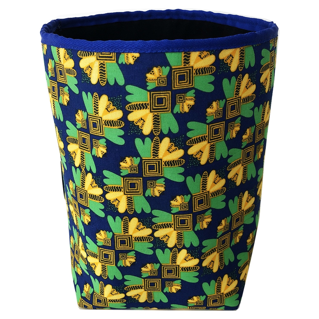 Deer Design Fabric Bucket Small - Blue Bees