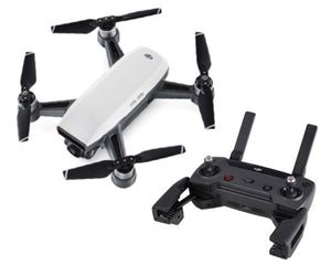 DJI Spark Quadcopter Drone With Controller (Alpine White) - Africa Drone Kings