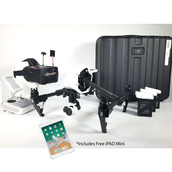 DJI Inspire 1 V2 Refurb 2 Additional TB48 Endurance Batteries and Eachine Googles 2 and FREE iPAD mini - Africa Drone Kings