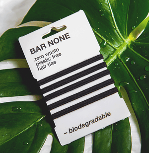 BAR NONE BIODEGRADABLE HAIR TIES