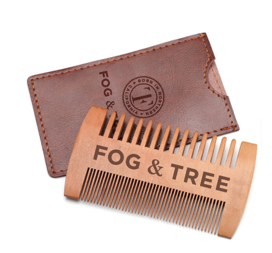 2 Hemp Beard Conditioners with Beard Comb