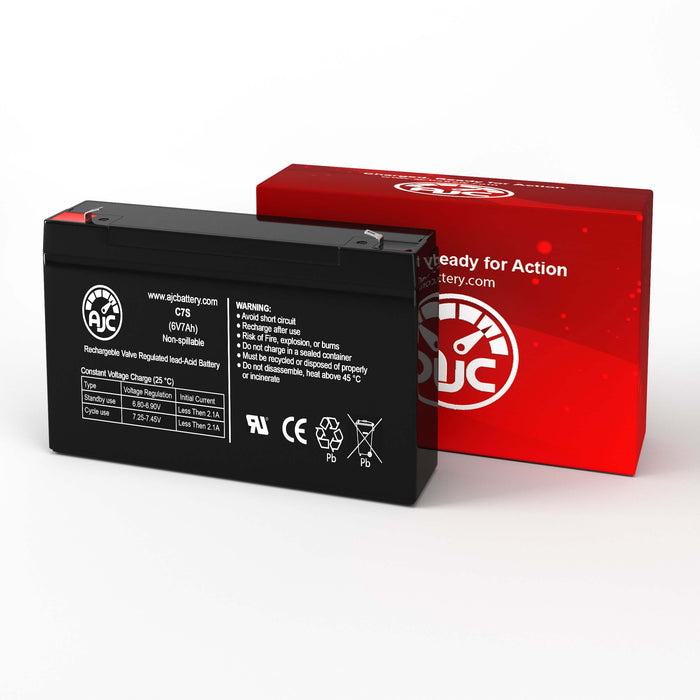 AJC Battery Brand Replacement for Johnson Controls GC6657 6V 7Ah Batería Ácido-plomo sellado de reemplazo-2