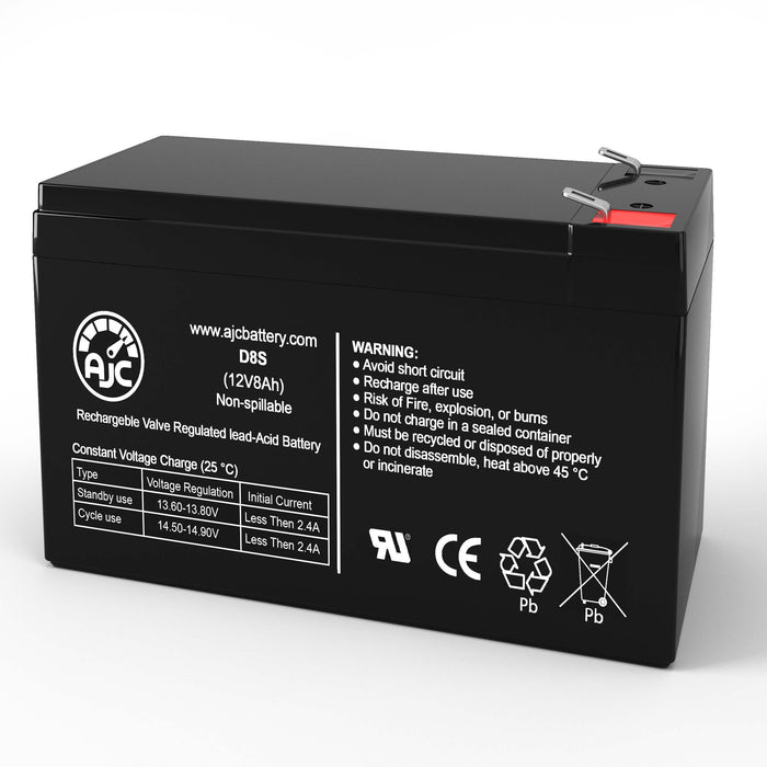 AJC Battery Brand Replacement for Johnson Controls JC-1265 12V 8Ah Batería de reemplazo de SAI/UPS-1