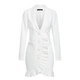 Rebeca white blazer dress