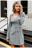 Tiffany grey blazer dress