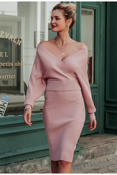 Rose 2 piece knitted dress