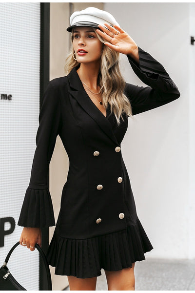 Adeline black blazer dress