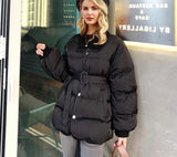 Alicia Belted padded coat