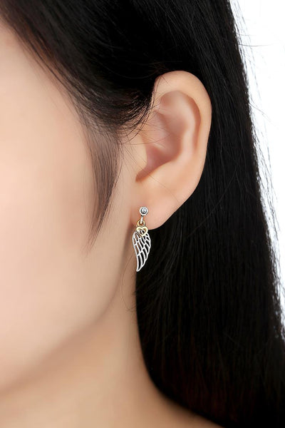 925 Sterling Silver Feather Stud Earrings - ALLUNIK SHOP