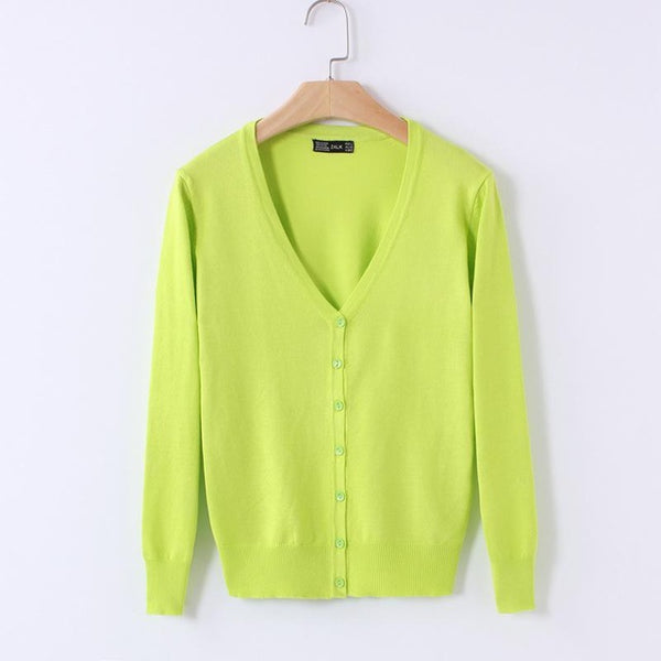 20 colours Classic Knitted Cardigan - ALLUNIK SHOP